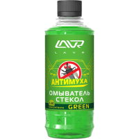 Омыватель стекол Green Анти Муха концентрат LAVR Glass Washer Concentrate Anti Fly 330мл
