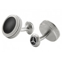 Запонки Mercedes-Benz Cufflinks, Silver / Black, артикул B66953090
