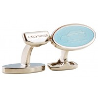Запонки Range Rover Sport Oval Icon Cufflinks - Blue, артикул LRJCLRRCB